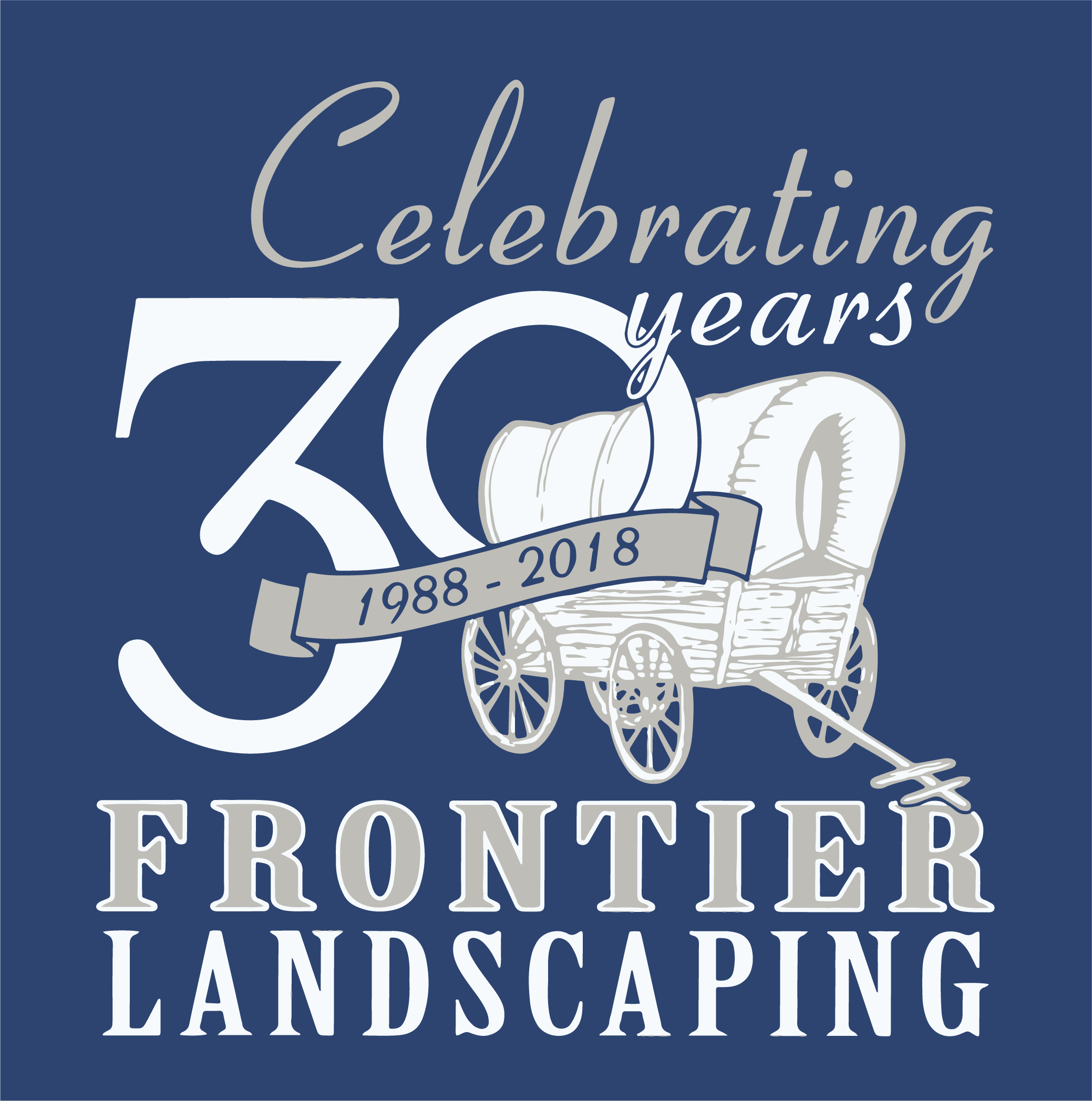 Frontier Landscaping, celebrating 30 years of landscape design and landscape maintenance.